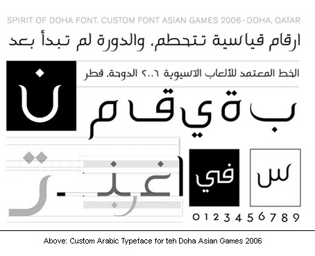 Spirit of Doha; Arabic font for the Doha Asian games 2006