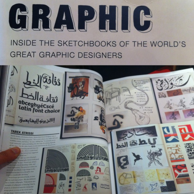 Tarek Atrissi feature in Steven Heller Book: Graphic, inside the sketchbooks of the world's great graphic designers