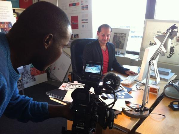 Tarek Atrissi at work at Netherlands based office Tarek Atrissi Design - footage by Al Jazeera
