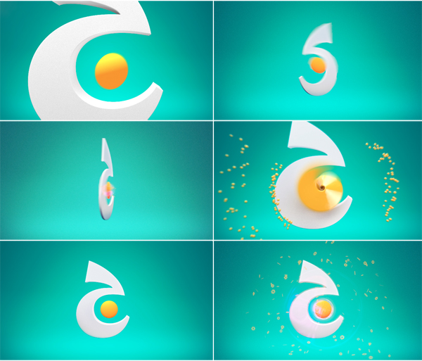 jeem tv logo animation of arabic lettering letter stylized as icon for the brand identity
