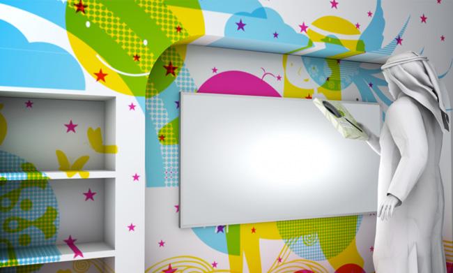 1_children_library_interior_design_mural_graphics