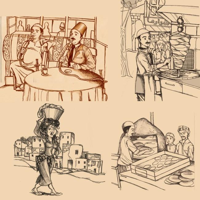 4_illustration_design_falafel_egypt_style
